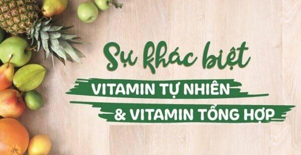 Sự khác biệt giữa Vitamin tự nhiên & Vitamin tổng hợp