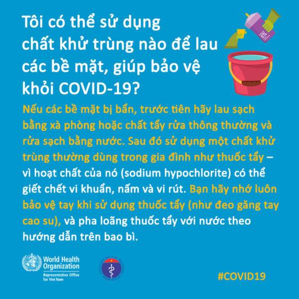 Phòng dịch COVID-19: Cách vệ sinh, khử khuẩn tại nhà như thế nào?
